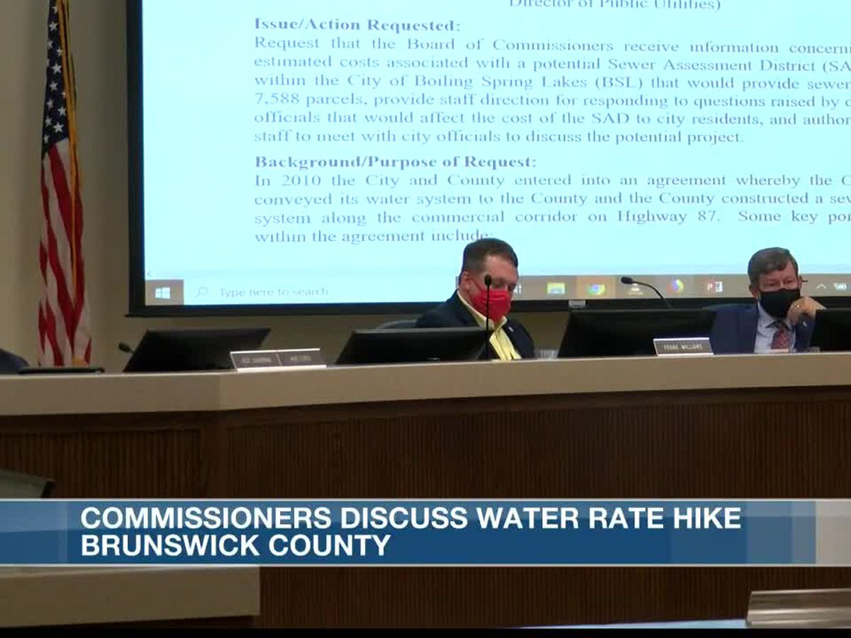 Board of Commissioners hears from financial consultants on water rate hike
