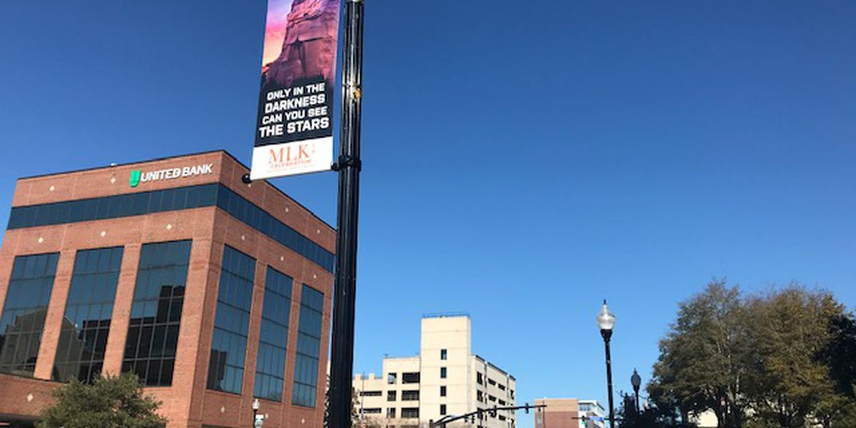 MLK Jr. quotes hang on banners around downtown Wilmington in lieu of annual parade