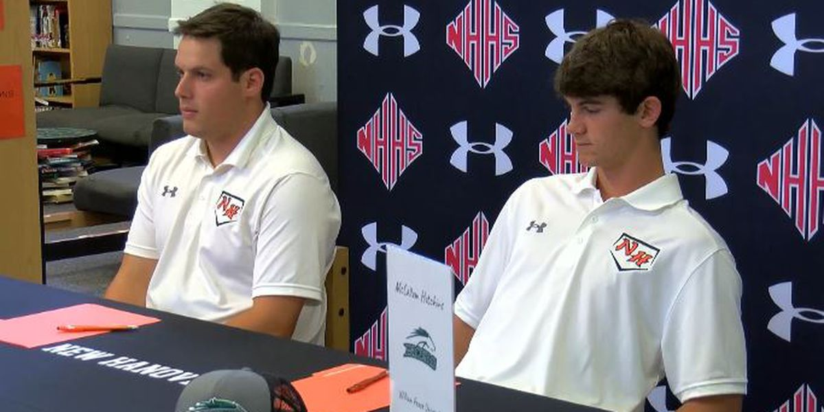 New Hanover hosts signing day for pair of baseball state champions