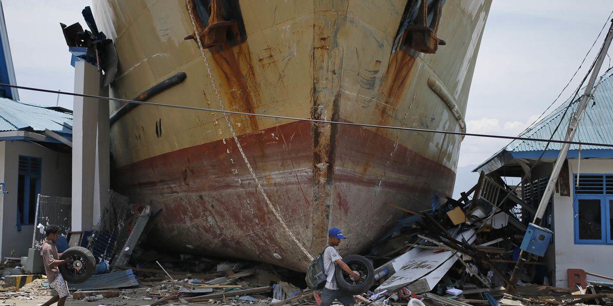 Crew recount terror of tsunami that dumped ferry in village