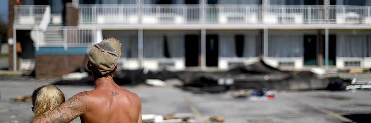 Mexico Beach residents return home 1 week after Michael