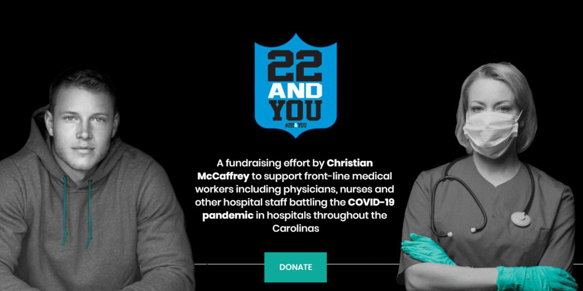 Christian McCaffrey launches '22 and You' to raise money for medical workers during COVID-19 crisis