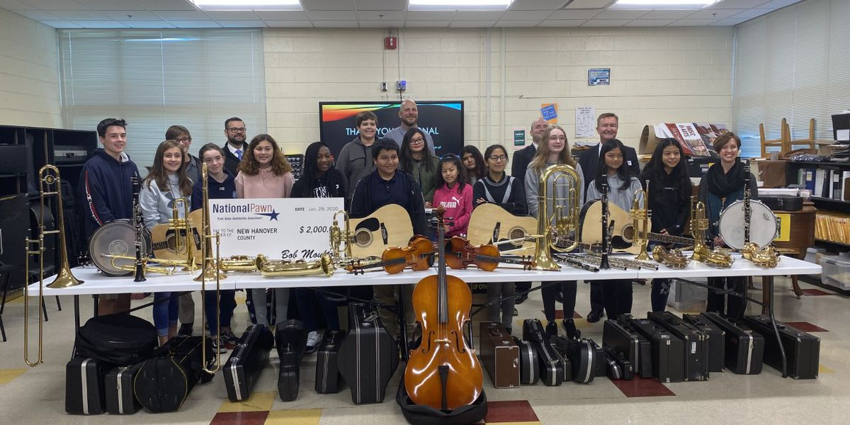 New Hanover County Schools receives donation of over 100 instruments