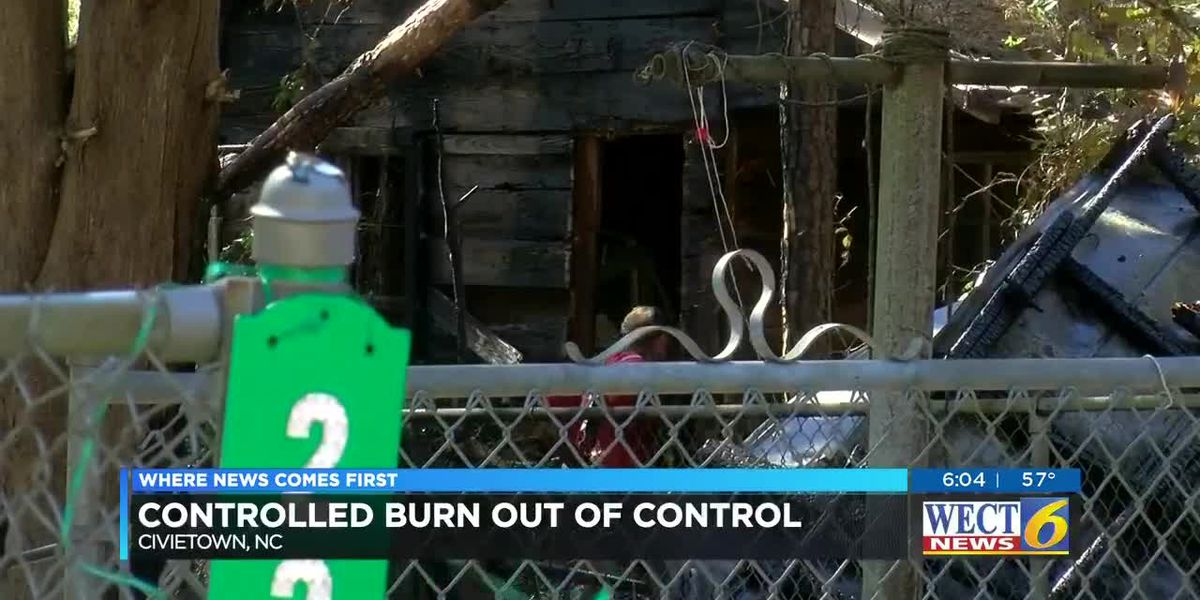 Controlled burn sparks out of control in Brunswick County