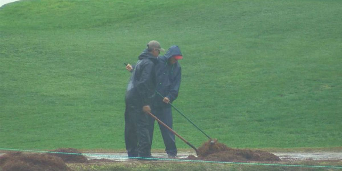 Course superintendent on ground crew's response to rain: 'They knocked it out of the ballpark'