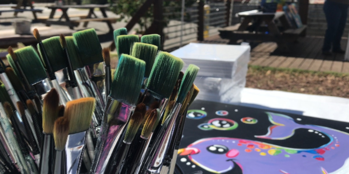 Painting party raises money for Diaper Bank of Lower Cape Fear