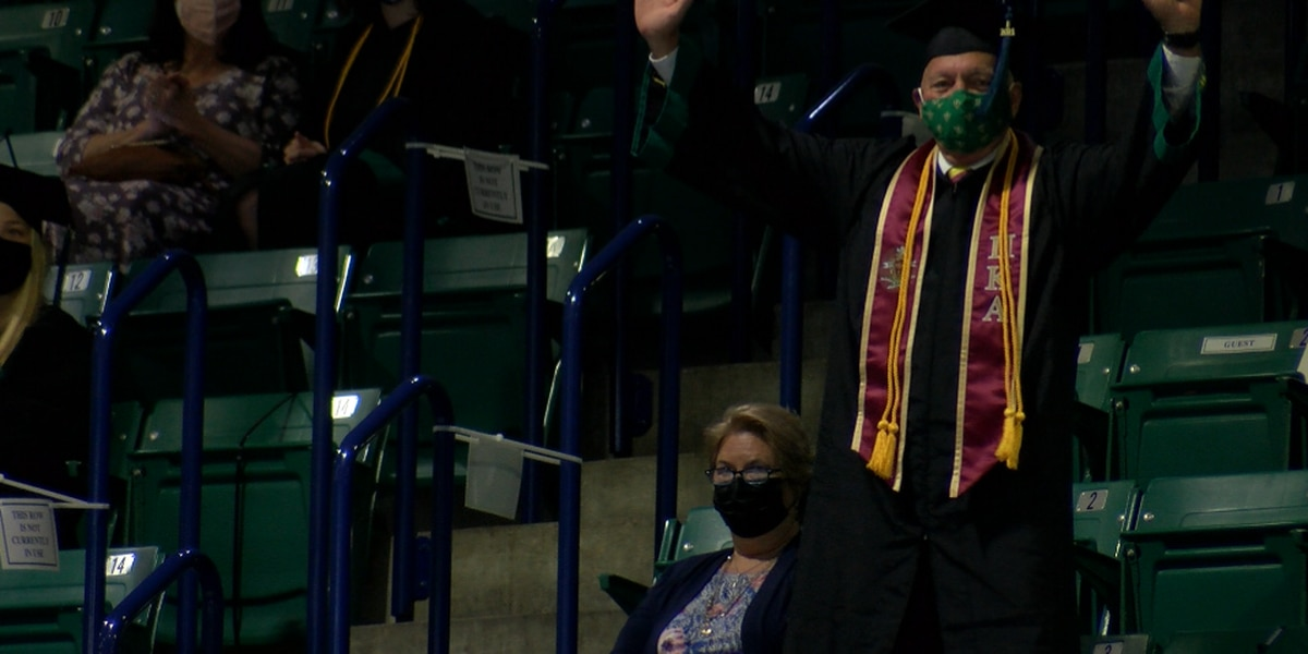 'I'll leave a legend': 67-year-old UNCW graduate lives up to his promise after returning to college