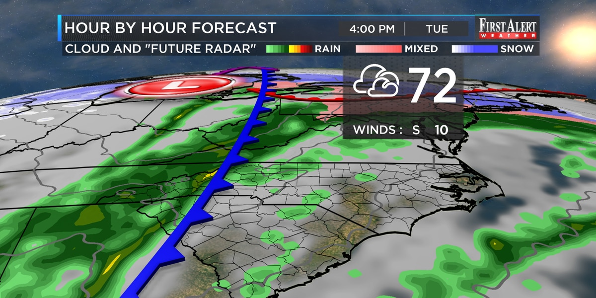 First Alert Forecast: unseasonably warm and unsettled Tuesday