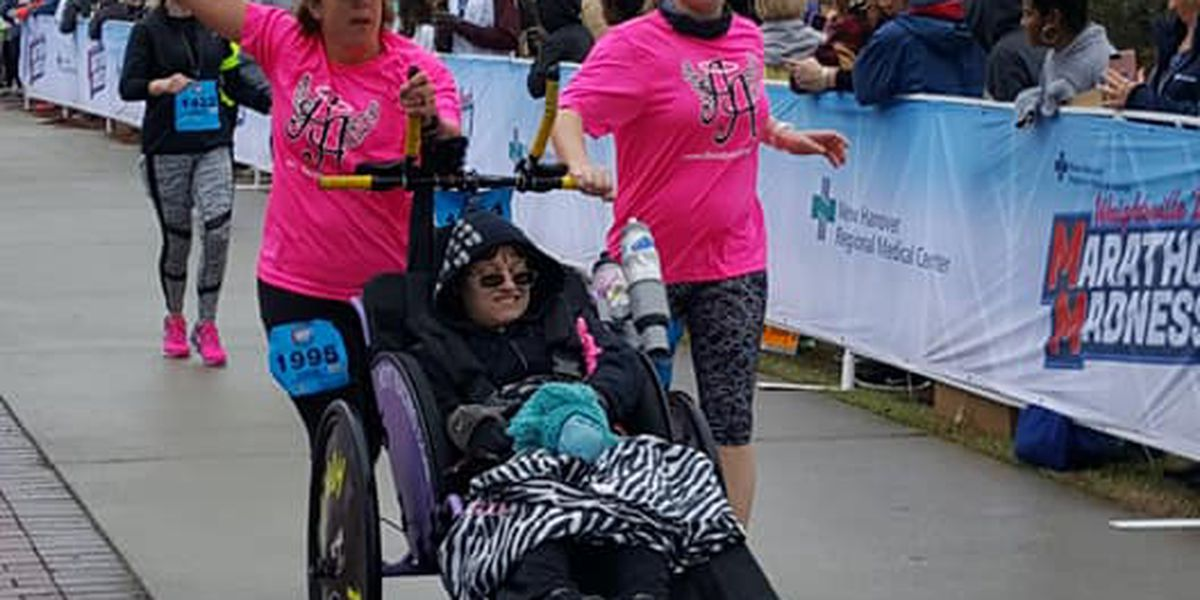 Highway 6: Angels lend their legs to the disabled for the Blueberry Festival 5K