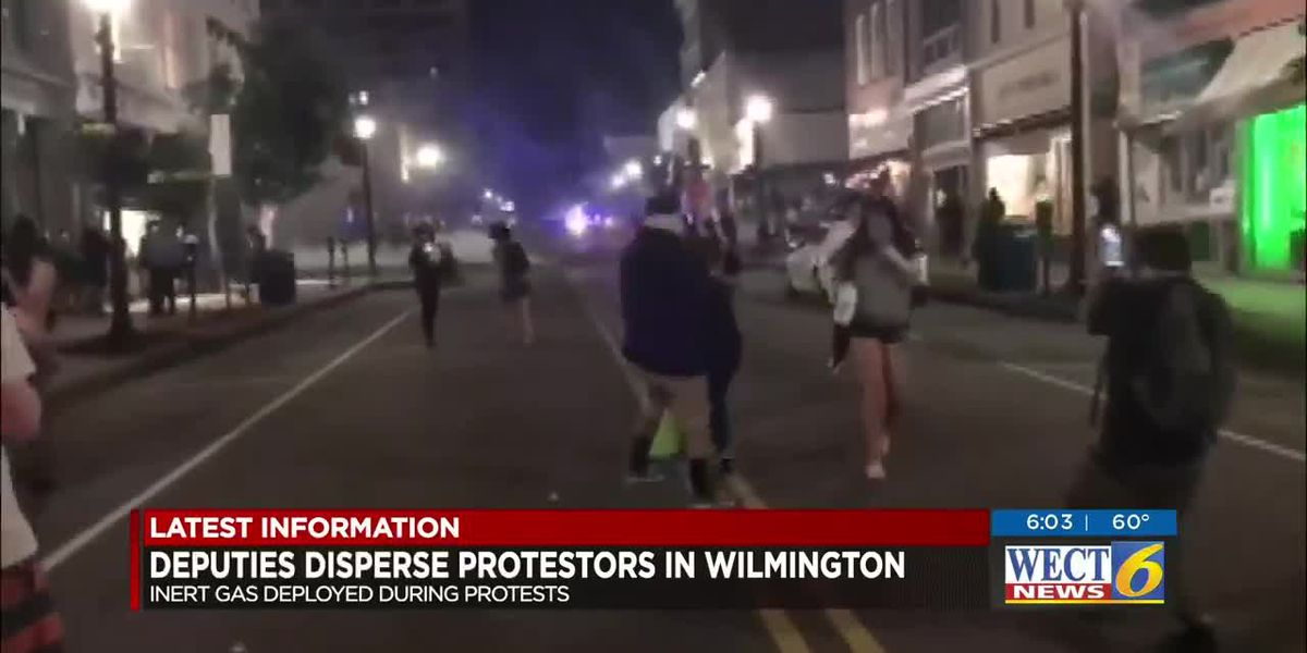 Law enforcement uses inert gas in effort to get crowd of protesters in Wilmington to disperse