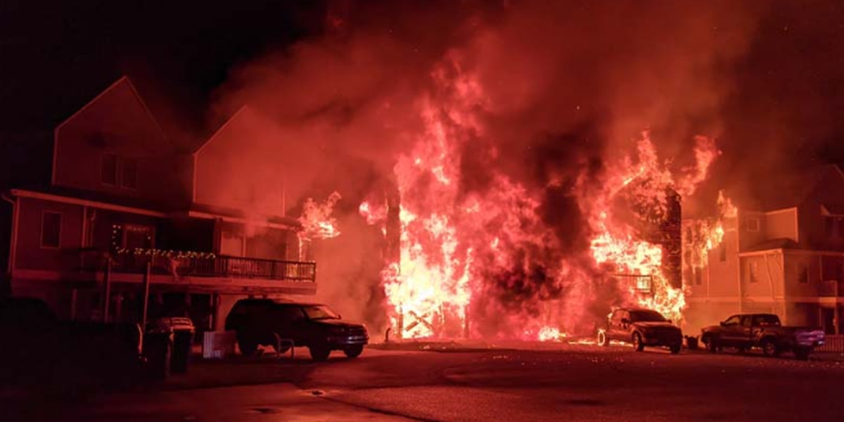 Four people missing after massive house fire in Outer Banks