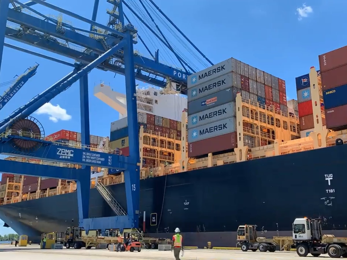 Wilmington Port visited by largest ship yet