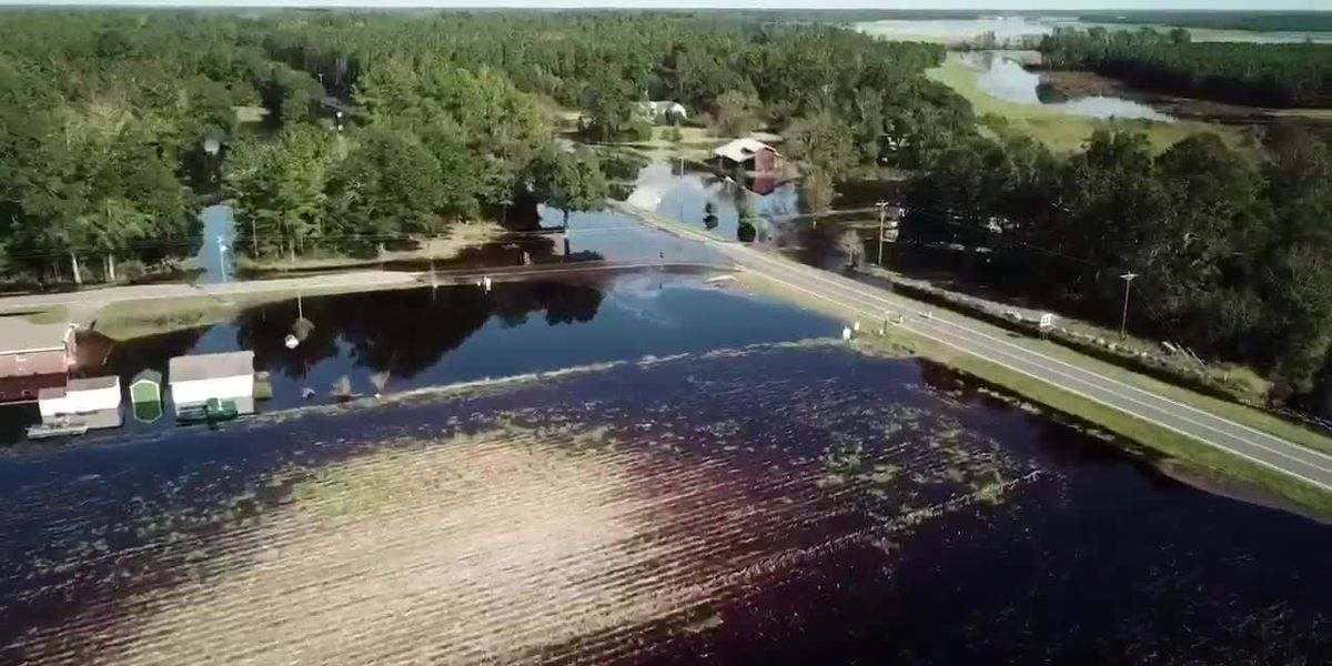 Hurricane Florence flooding in Bladen County