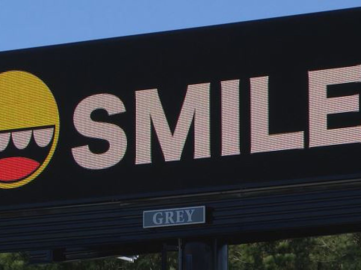 "SMILE billboard created to bring a ""recharge"" during a pandemic"