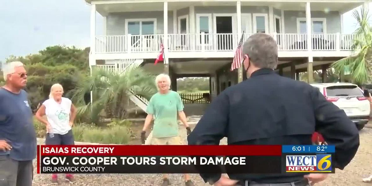 Governor Cooper tours storm damage