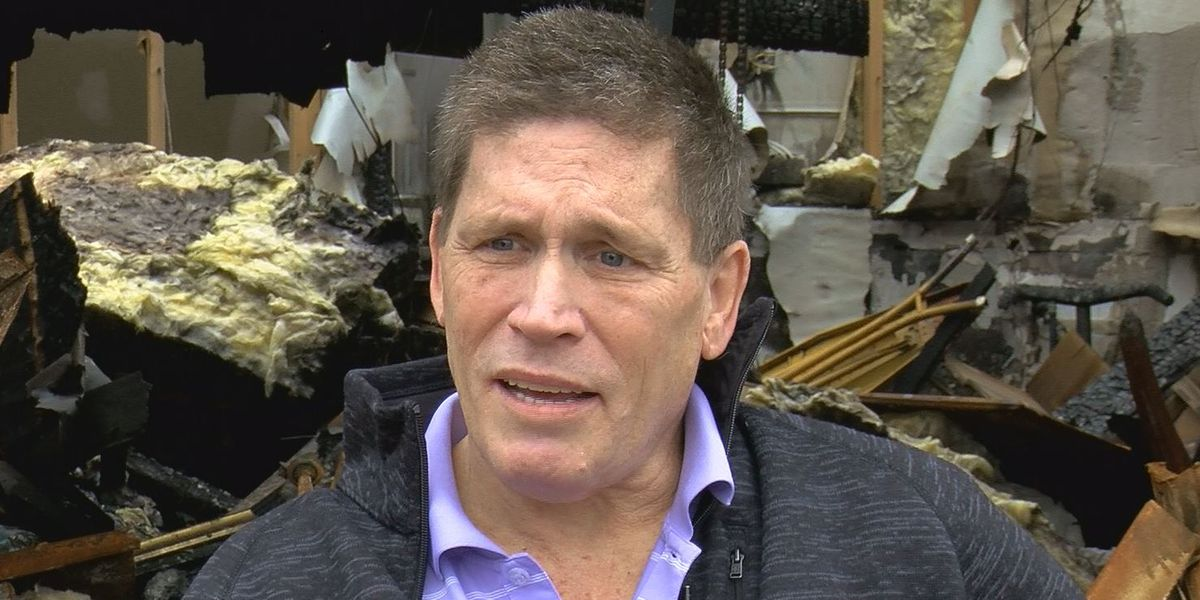 Man shares story of survival after house fire: 'I'm very lucky, obviously'