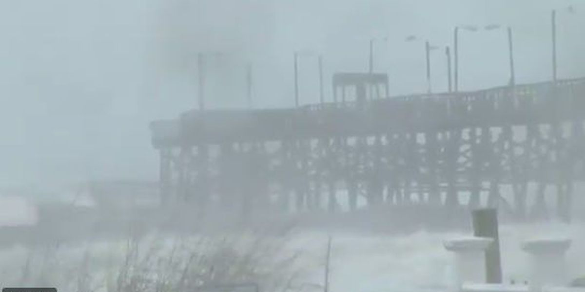 Part of Oak Island Pier collapsed from storm impacts