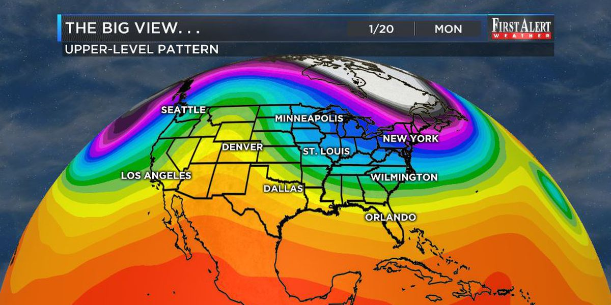 First Alert Forecast: one cold shot Friday, another for MLK Day