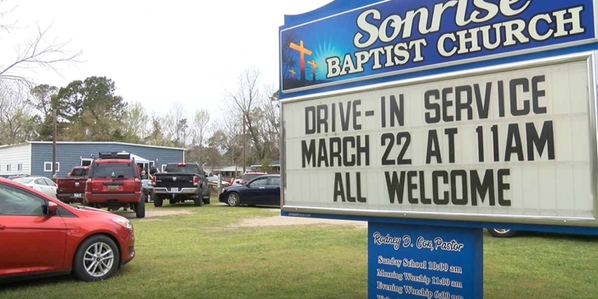 Drive-in worship service brings congregation together while staying apart
