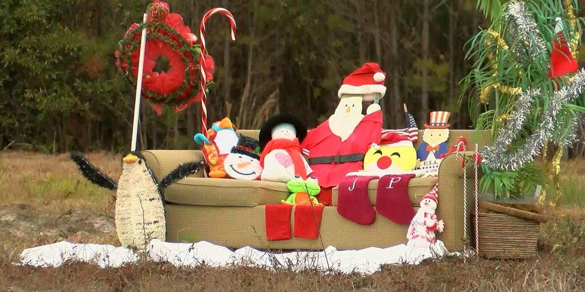 Abandoned couch becomes symbol of the season in Little River