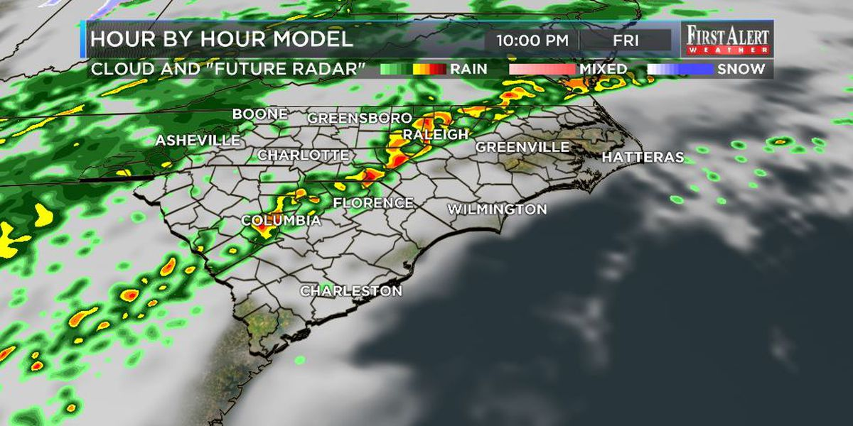 First Alert Forecast: temps and rain chances turning up...