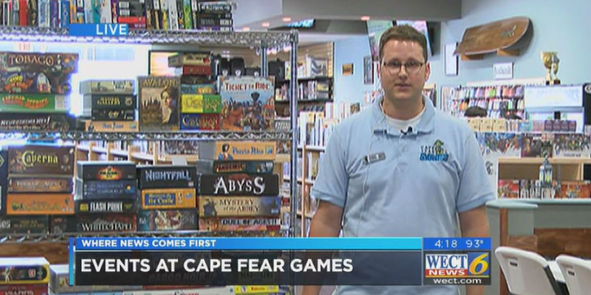 First at Four: Cape Fear Games invites you to play board games