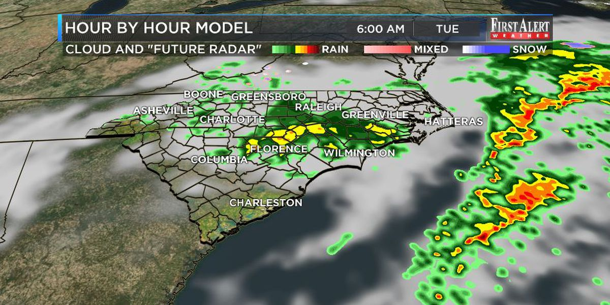 First Alert Forecast: quick spike in shower chances early this week