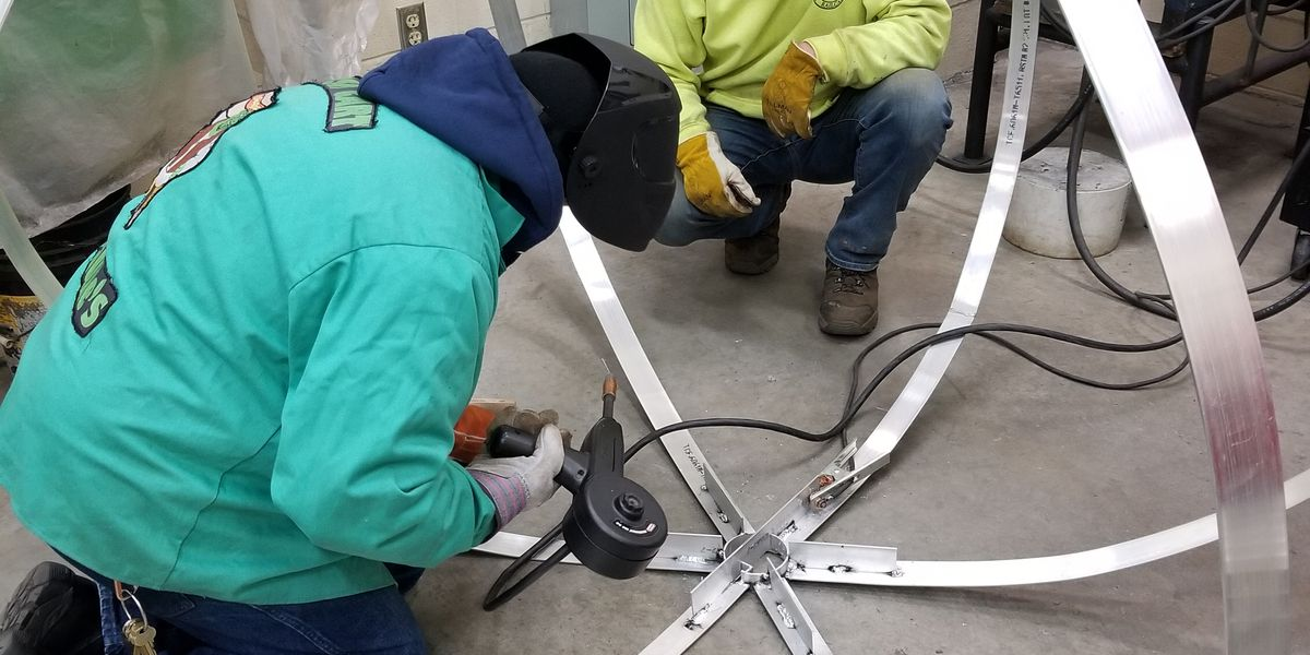 CFCC welding students create 'blueberry' for New Year's Eve drop