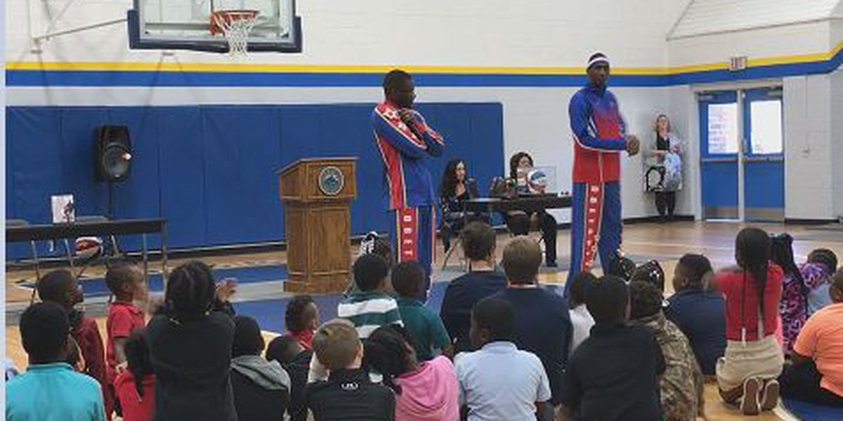 Globetrotters deliver anti-bullying message at the Community Boys and Girls Club