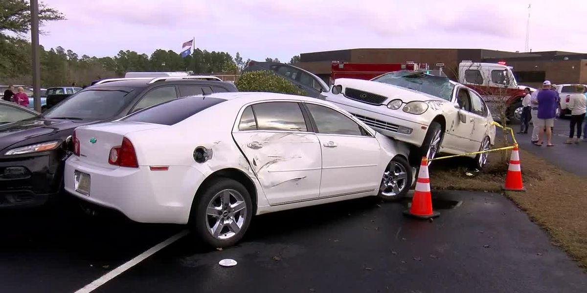'We just held hands': Students recount moments EF1 tornado tore through Loris H.S. parking lot