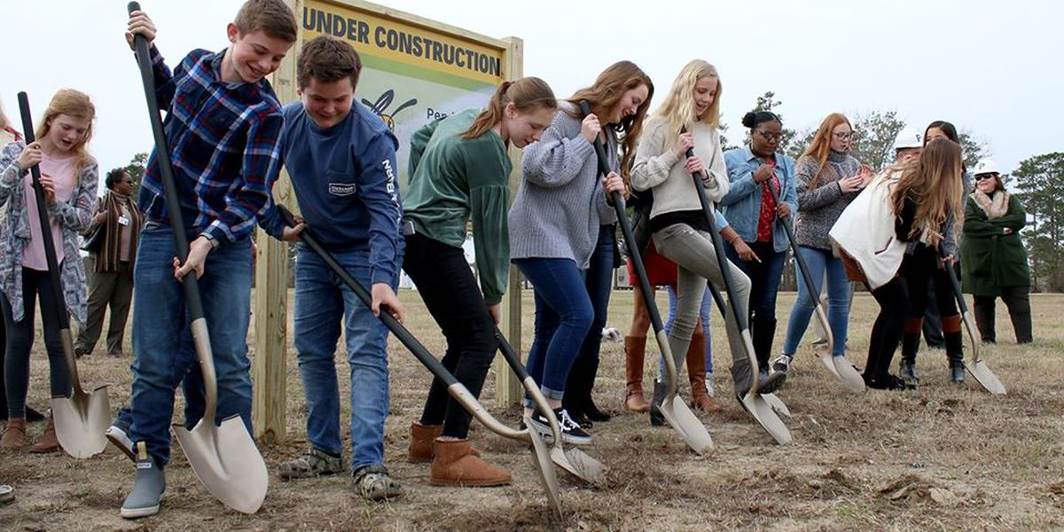 Penderlea Middle holds groundbreaking for two athletic fields