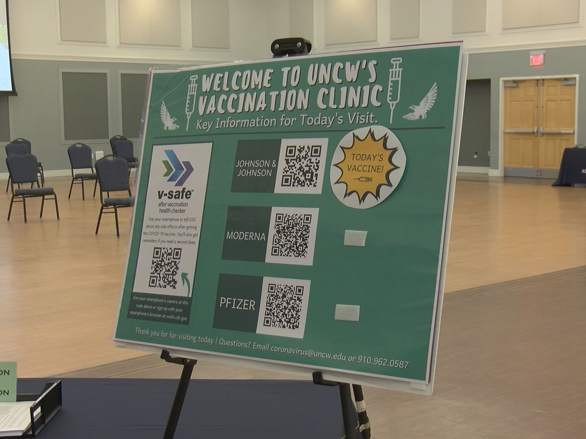 UNCW's vaccine clinic now accepting walk-ins