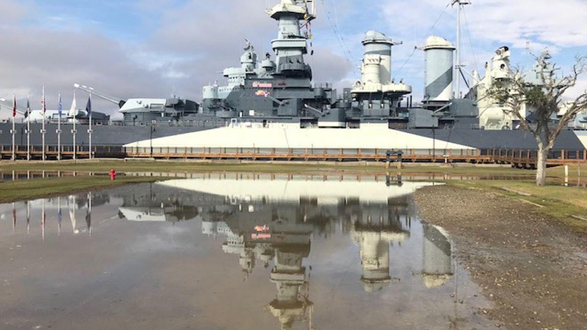 Battleship North Carolina closes early due to tidal flooding