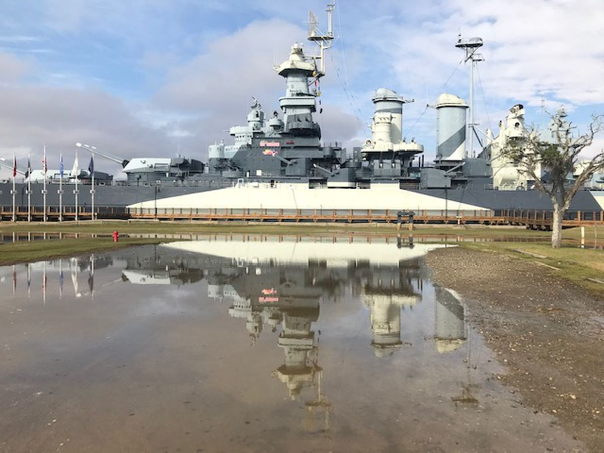Battleship North Carolina closes early due to tidal flooding