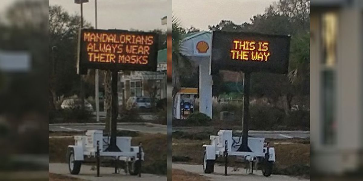 'This is the way': N.C. road sign reminds community to be like the Mandalorian and always wear masks