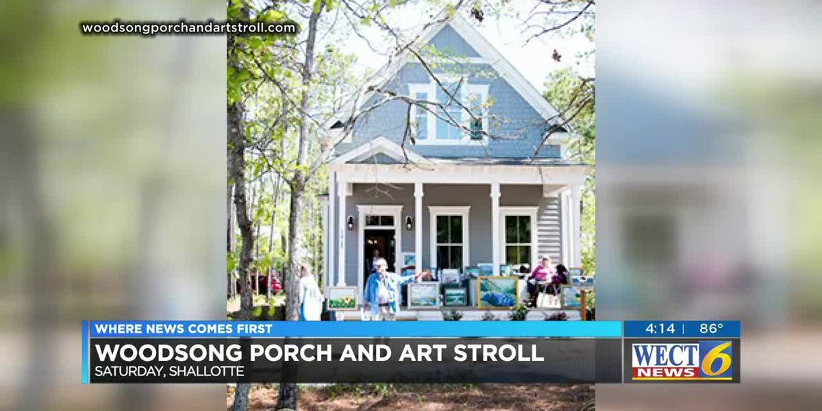 The Woodsong Porch and Art Stroll is Sat., April 27