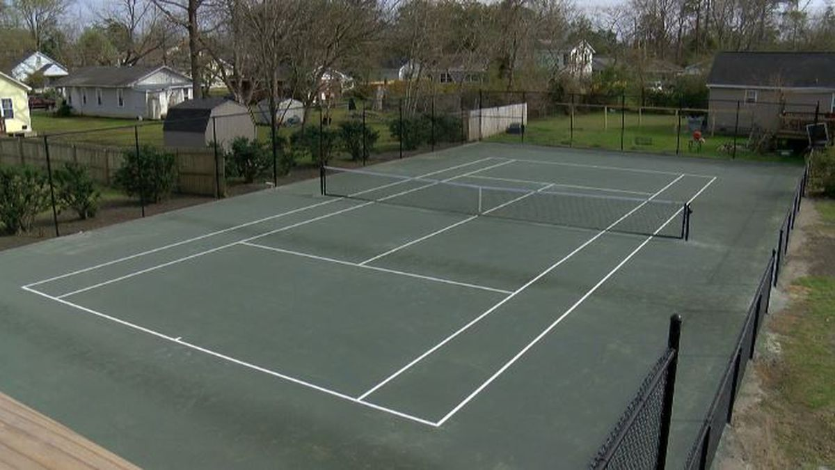 Restoration of historic tennis court complete