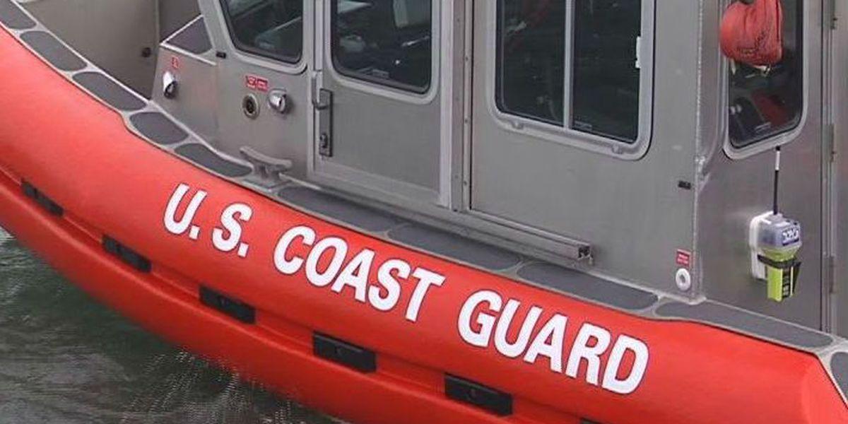 Coast Guard, good Samaritans help boaters, dog after fire