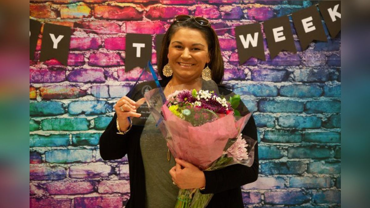 Telecommunicator receives award for work ethic, dedication to public safety