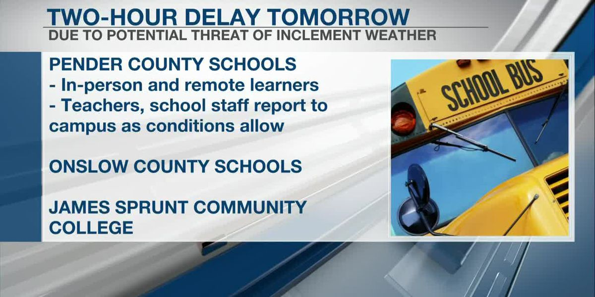 Northern county schools operating on a two-hour delay