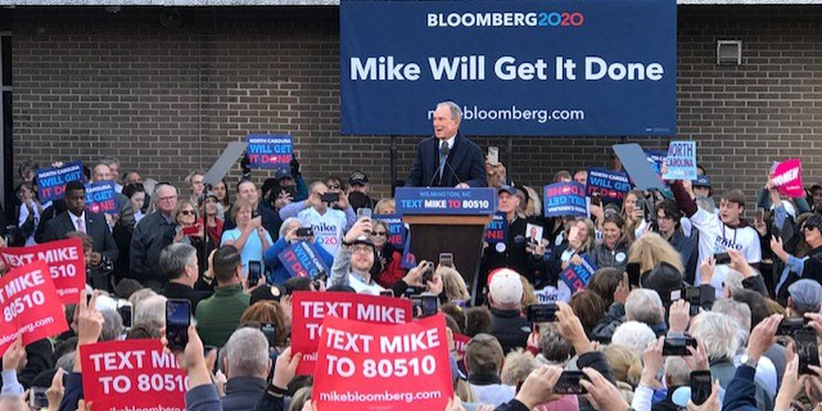 Bloomberg brings presidential campaign to Wilmington