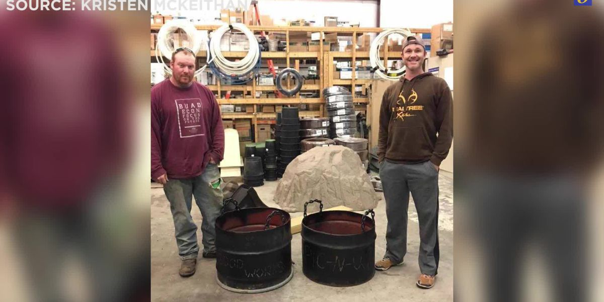 Man welds, delivers 'fire pits of hope' to river flooded communities
