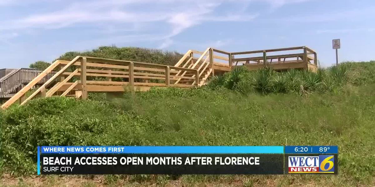 Surf City re-opens beach accesses and park months after Hurricane Florence