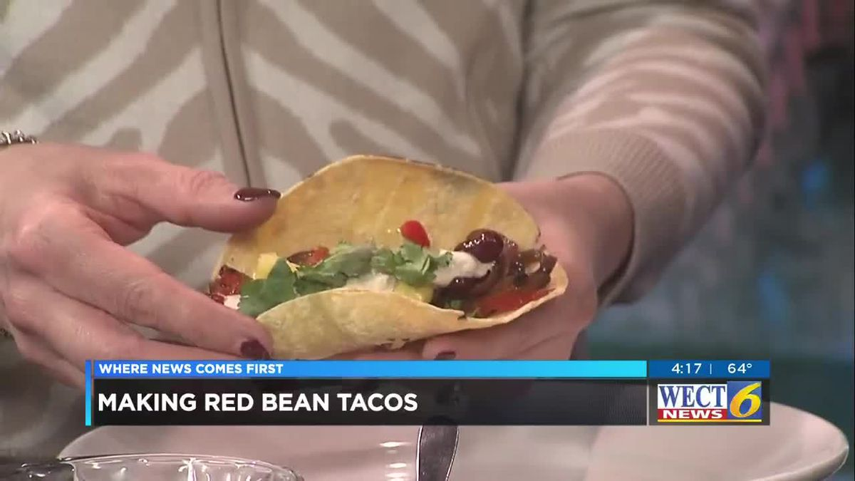 First at Four recipe: Red bean tacos with sweet peppers, red onion and pineapple