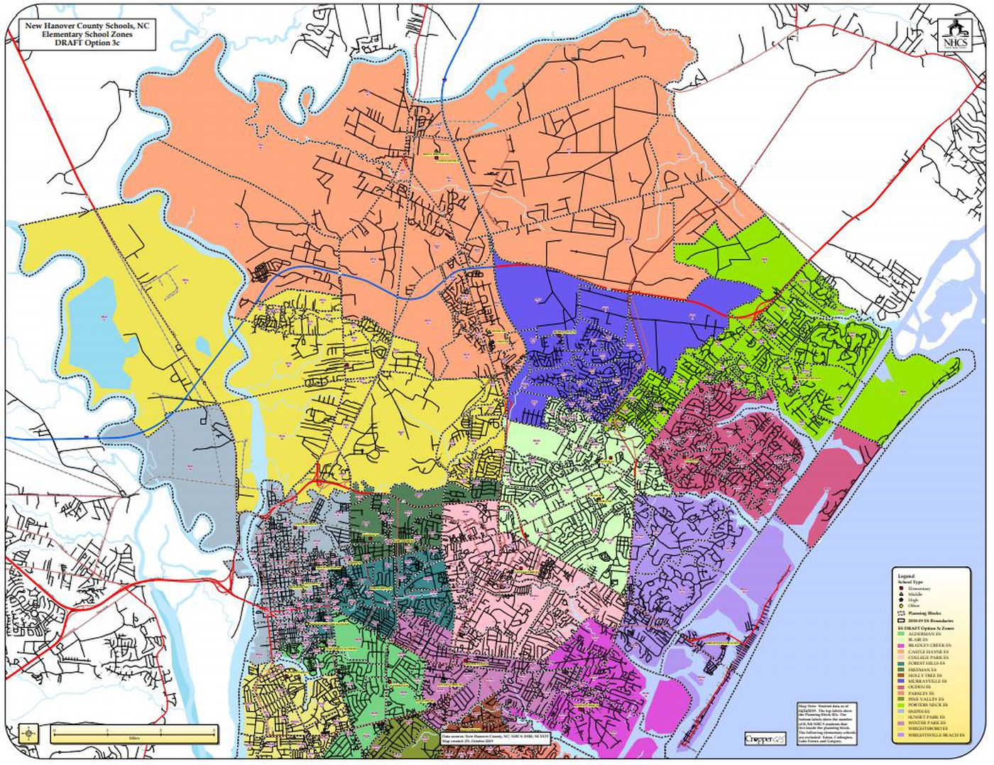 New Hanover County Schools closer to making redistricting