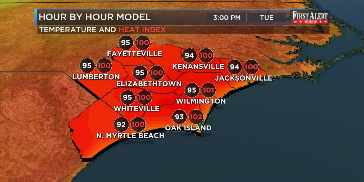 First Alert Forecast: a Tuesday sizzler