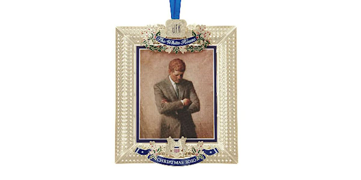 President John F. Kennedy is being honored with an official White House Christmas ornament