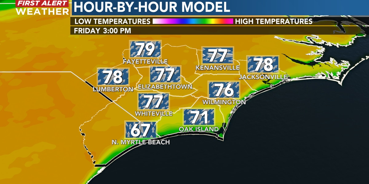 First Alert Forecast: glorious spring-like weather rolls on