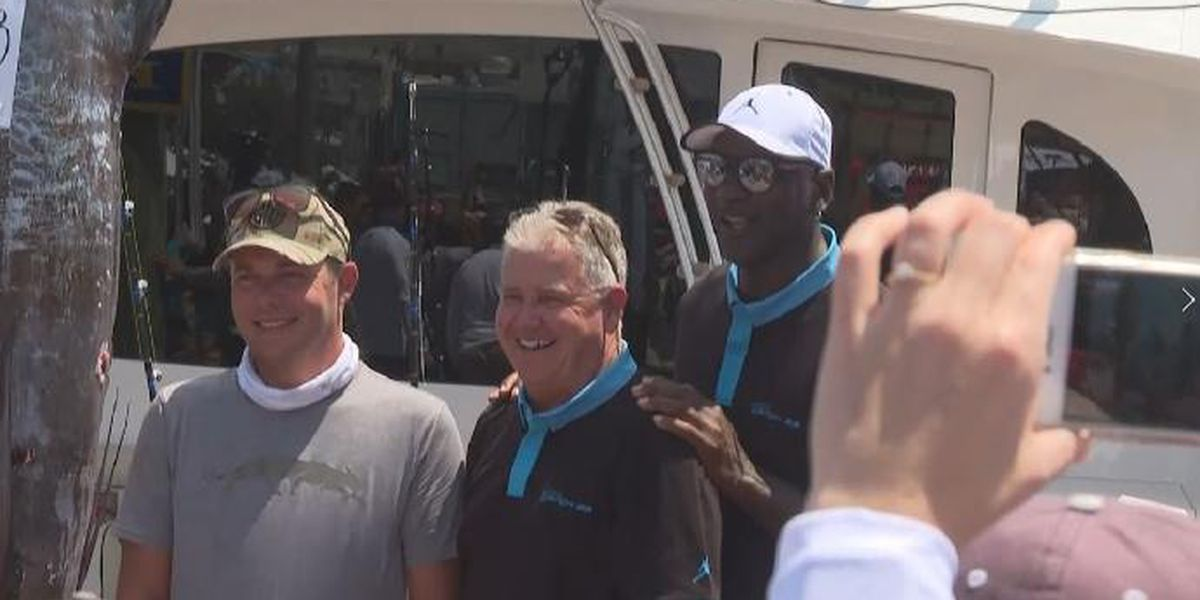BIG ROCK: Michael Jordan's boat brings in 442.3-pound marlin