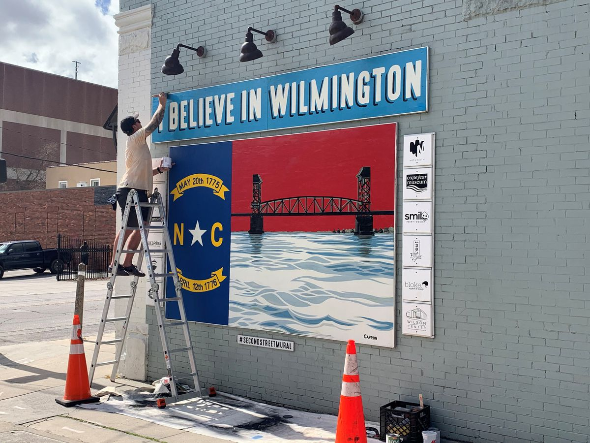 Wilmington's second street mural is getting a little TLC